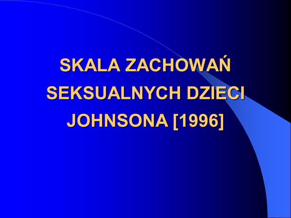 SKALA ZACHOWAŃ SEKSUALNYCH DZIECI JOHNSONA [1996]
